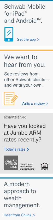 Schwab Bank. Have you looked at Jumbo ARM rates recently? Today's rates.