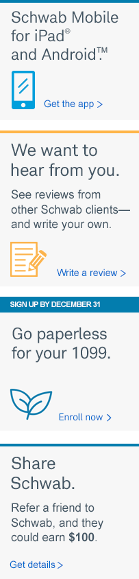 Sign up now to receive paperless 1099s.